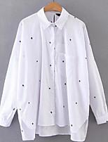 Недорогие -Жен. Рубашка, Рубашечный воротник Горошек