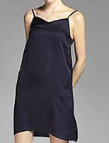 Недорогие -Жен. Прямое Платье - Однотонный, Классический На бретелях