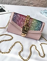 cheap -Women's Bags PU Shoulder Bag Zipper for Casual All Seasons White Black Blushing Pink Brown