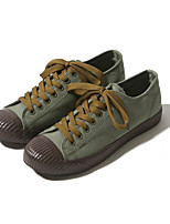 cheap -Men's Shoes Canvas Summer Fall Comfort Sneakers for Casual Outdoor Beige Dark Blue Army Green