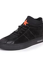 abordables -Homme Chaussures Cuir Nubuck Printemps Automne Confort Basket pour Décontracté De plein air Noir Rouge