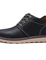 cheap -Men's Shoes PU Fall Winter Combat Boots Comfort Boots Booties/Ankle Boots for Casual Black Coffee Brown