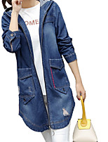 cheap -Women's Cute Casual Denim Jacket-Solid Colored,Print