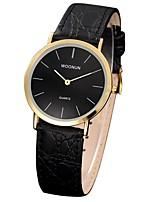 Недорогие -Жен. Кварцевый Модные часы Японский Защита от влаги Натуральная кожа Группа Мода Черный Коричневый