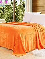 cheap -Coral fleece, Reactive Print Solid Colored Cotton/Polyester Polyester Blankets