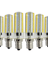 cheap -YWXLIGHT® 6pcs 7W 600-700 lm E14 LED Bi-pin Lights T 152 leds SMD 3014 Dimmable Decorative Warm White Cold White AC 110-130V AC 220-240V