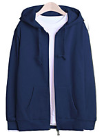cheap -Men's Simple Hoodie - Solid Colored