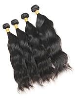 Недорогие -Малазийские волосы Естественные волны Ткет человеческих волос 4шт 0.4