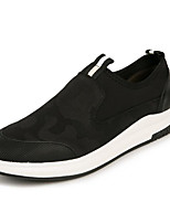 abordables -Homme Chaussures Toile de jean Printemps Automne Confort Mocassins et Chaussons+D6148 pour Décontracté Noir Rouge