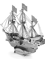 cheap -Golden Hind 3D Puzzles Metal Puzzles Pirate Ship Creative Focus Toy Hand-made Metal Nautical Standing Style Toy Girls' Boys' Gift