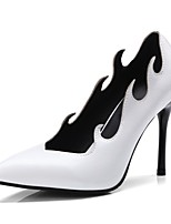 cheap -Women's Shoes Leatherette Spring Fall Basic Pump Heels Stiletto Heel Pointed Toe for Wedding Party & Evening White Black Wine