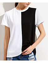cheap -Women's Basic T-shirt - Color Block