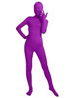 preiswerte -Zentai Anzüge Mode Zentai Kostüme Cosplay Kostüme Türkis Purpur Braun Blau Rosa Solide Modisch Zentai Kostüme Lycra® Herrn Damen