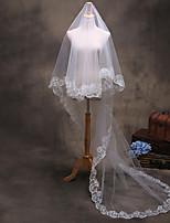 cheap -One-tier Fashionable Jewelry Flower Style Mesh Convertible Dress Long Bridal Euramerican Wedding Accent/Decorative Headpieces Wedding Veil
