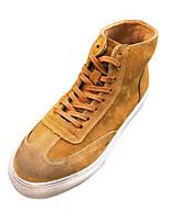 Недорогие -Муж. обувь Нубук Весна Осень Удобная обувь Кеды для Повседневные на открытом воздухе Черный Серый Хаки