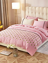 cheap -Duvet Cover Sets Floral 4 Piece Poly/Cotton 100% Cotton Reactive Print Poly/Cotton 100% Cotton 1pc Duvet Cover 2pcs Shams 1pc Flat Sheet
