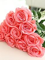abordables -Fleurs artificielles 2 Une succursale style pastoral / Style européen Roses Fleur de Table