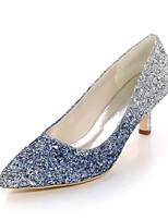 abordables -Mujer Zapatos Lentejuelas Primavera Verano Pump Básico Tacones Tacón Stiletto Dedo Puntiagudo para Boda Fiesta y Noche Negro Fucsia Azul