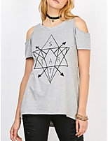 cheap -Women's T-shirt - Geometric, Print