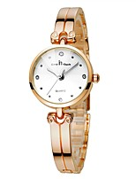 cheap -Women's Bracelet Watch Chinese Chronograph Stainless Steel Band Casual Gold