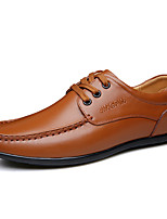 cheap -Men's Shoes Patent Leather Spring Fall Comfort Oxfords for Casual Office & Career Black Brown