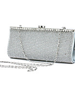 cheap -Women's Bags Glasses / Metal Evening Bag Beading / Appliques / Crystals for Wedding / Event / Party Silver