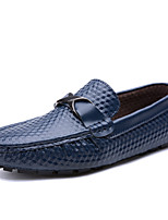 cheap -Men's Shoes Leatherette Spring Summer Comfort Loafers & Slip-Ons for Casual White Black Blue