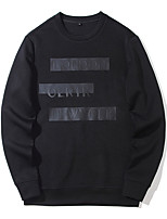 cheap -Men's Sweatshirt - Geometric Round Neck