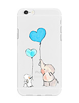 abordables -Funda Para Apple iPhone X iPhone 8 Plus Diseños Funda Trasera Corazón Caricatura Animal Suave TPU para iPhone X iPhone 8 Plus iPhone 8