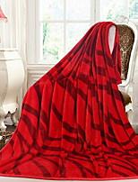 baratos -Velocino de Coral, Impressão Reactiva Damasco Algodão / Poliéster Poliéster cobertores