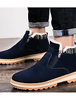 cheap -Men's Shoes Nubuck leather Spring Fall Snow Boots Comfort Boots Booties/Ankle Boots for Casual Black Blue Khaki