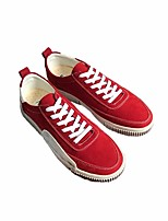 cheap -Men's Shoes PU Spring Fall Comfort Sneakers for Casual Black Gray Red