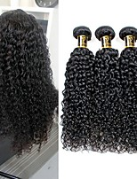 cheap -Brazilian Hair Kinky Curly Human Hair Weaves 1pc Natural Color Hair Weaves