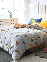 cheap -Duvet Cover Sets Geometric Pattern 4 Piece Poly/Cotton Reactive Print Poly/Cotton 1pc Duvet Cover 2pcs Shams 1pc Flat Sheet