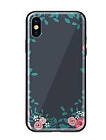 preiswerte -Hülle Für Apple iPhone X iPhone 8 Muster Rückseite Blume Hart Gehärtetes Glas für iPhone X iPhone 8 Plus iPhone 8 iPhone 7 iPhone 6s Plus