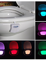 cheap -2pcs Toilet Light RGB AAA Batteries Powered Light Control Human Body Sensor