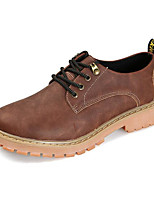 cheap -Men's Shoes Leather Spring Fall Combat Boots Comfort Boots Booties/Ankle Boots for Casual Coffee Light Brown