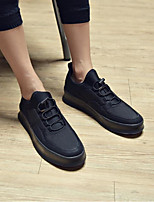 cheap -Men's Shoes Fabric Winter Fall Comfort Sneakers for Casual Black Black/White