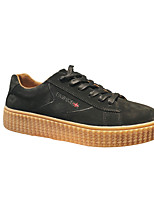 abordables -Homme Chaussures Croûte de Cuir Printemps Automne Confort Basket pour Décontracté De plein air Noir Gris Kaki