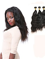 cheap -Brazilian Natural Wave Human Hair Weaves 3pcs 0.3