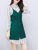 cheap -Women's Basic Set - Solid Colored, Patchwork Dress