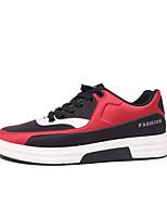 Недорогие -Муж. обувь Ткань Весна Удобная обувь Кеды для Повседневные Белый Красный