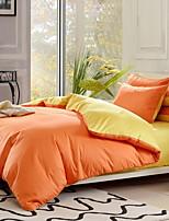 preiswerte -Bettbezug-Sets Solide 3 Stück Polyester / Baumwolle Garngefärbt Polyester / Baumwolle 1 Stk. Bettdeckenbezug 1 Stk. Kissenbezug 1 Stk.