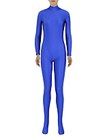 preiswerte -Zentai Anzüge Ninja Zentai Kostüme Cosplay Kostüme Blau Solide Zentai Kostüme Elasthan Lycra Herrn Damen Halloween Maskerade