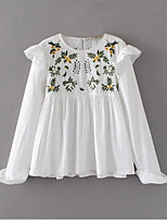 baratos -Mulheres Blusa Vintage Floral