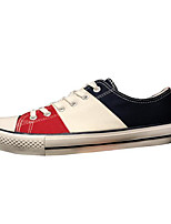 cheap -Men's Shoes Canvas Spring Fall Comfort Sneakers for Casual White Black/Red
