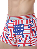 cheap -men's sexy boxers underwear - print, color block