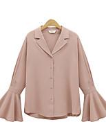 cheap -Women's Vintage Loose Shirt V Neck