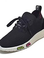 Недорогие -Муж. обувь Резина Весна Удобная обувь Кеды для на открытом воздухе Черный Серый Темно-серый Красный
