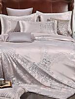 preiswerte -Bettbezug-Sets Blumen 4 Stück Polyester / Baumwolle Garngefärbt Polyester / Baumwolle 1 Stk. Bettdeckenbezug 2 Stk. Kissenbezüge 1 Stk.